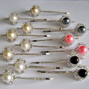 Accessories - WHOLESALE JOBLOT Of 14 Silver MultiPearl Hairpins